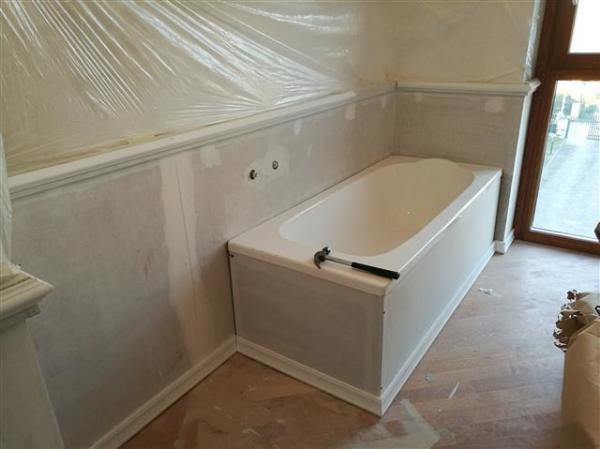 Realizzazione bagno con Boiserie